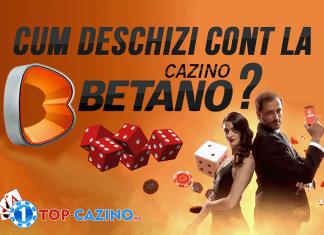 cum deschizi cont la betano casino
