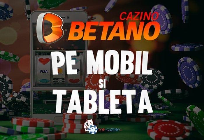Betano Casino pe mobil si tableta
