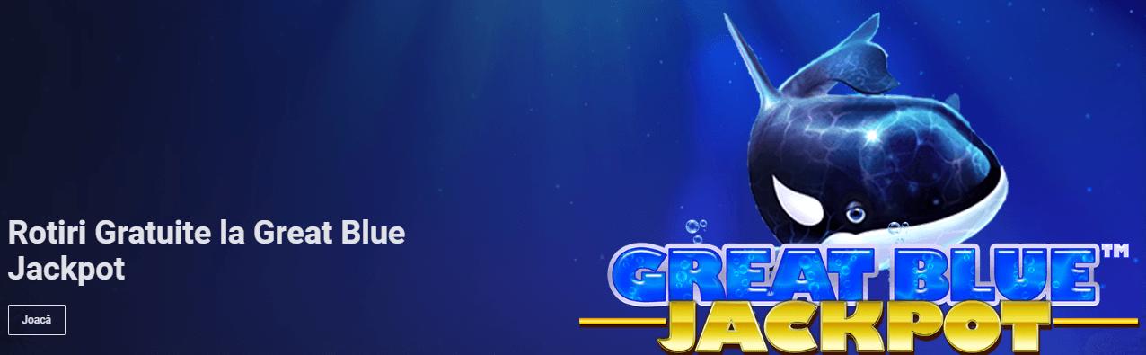 rotiri gratuite great blue jackpot betano casino
