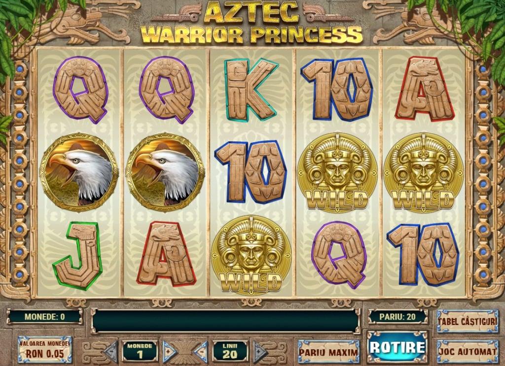 aztec warrior princess - sloturi winmasters cu jocuri bonus