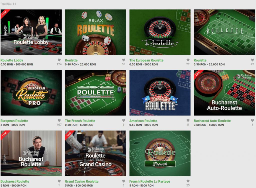Ruleta si jocuri de masa la Unibet Casino