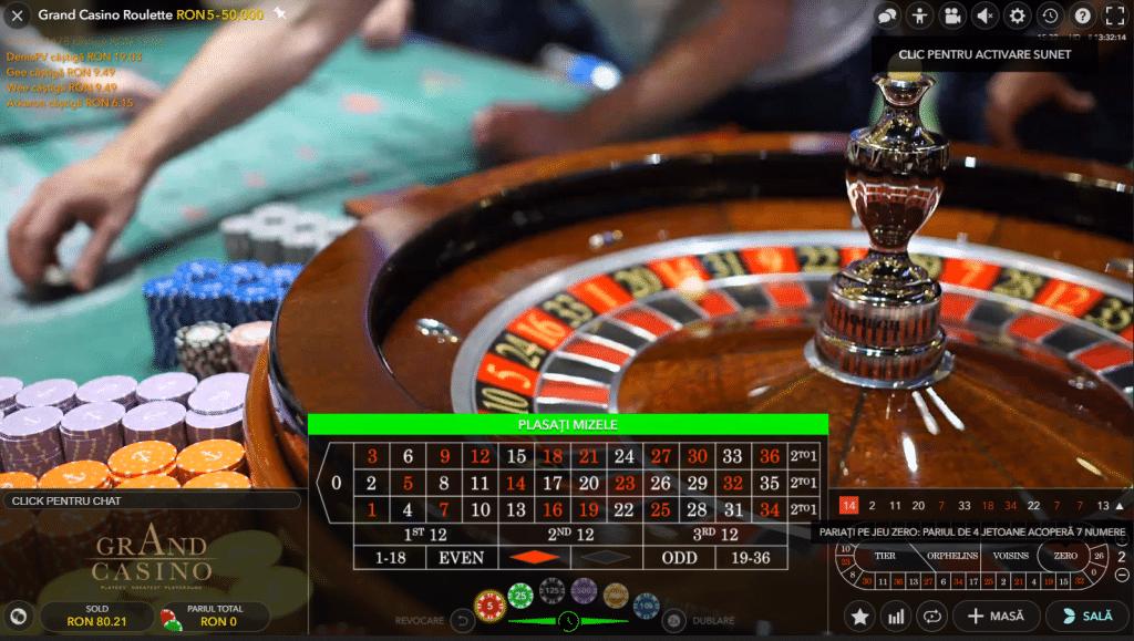 Ruleta Live la Unibet Casino