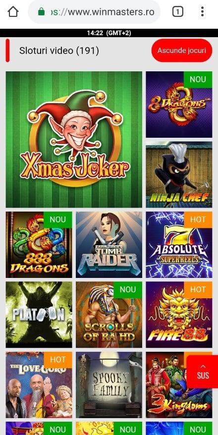sloturi video de pe mobil winmasters casino