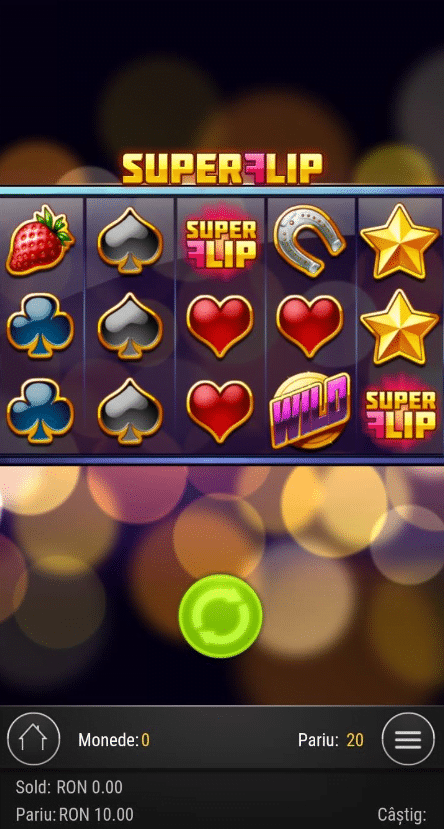 super flip de pe mobil la winmasters casino