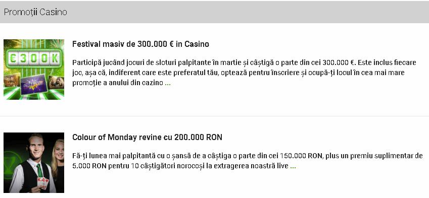 unibet casino promotii