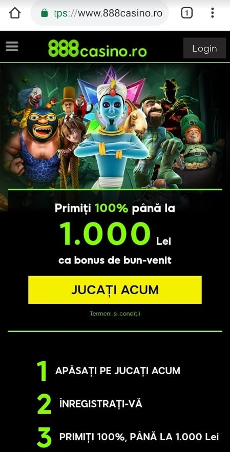 888 casino de pe mobil