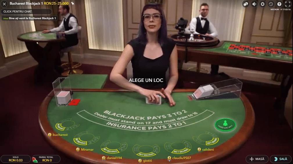 blackjack cu dealeri live la 888 casino
