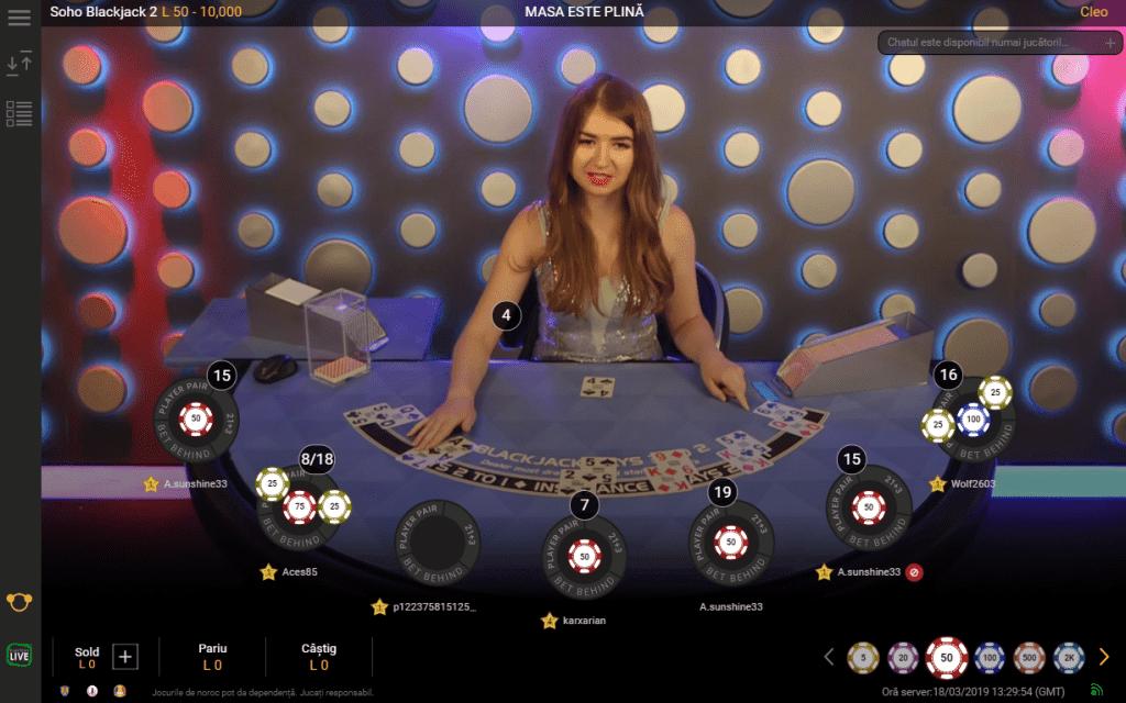 blackjack live la fortuna online