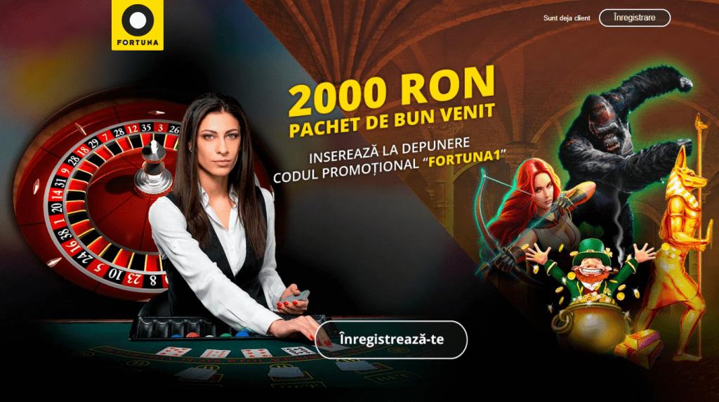 Cod bonus la Fortuna Casino