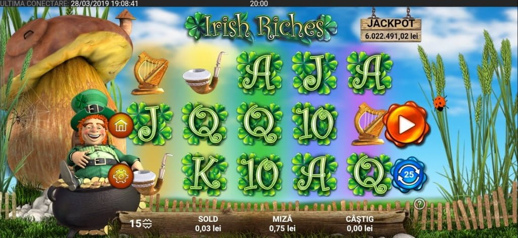 irish riches mobil 888 casino