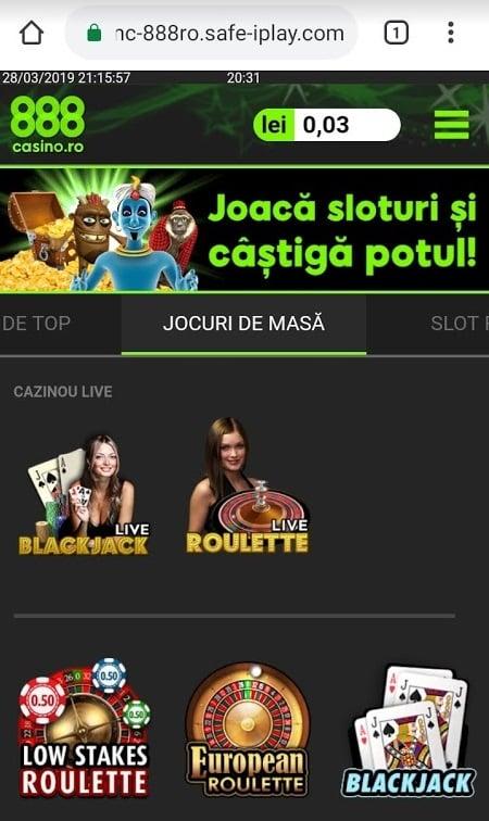 jocuri cu dealeri live 888 casino
