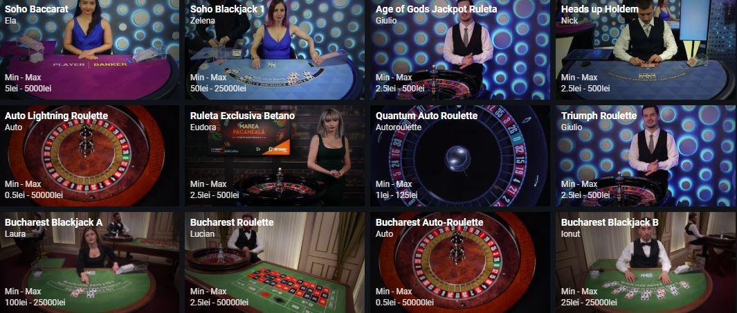 jocuri cu dealeri live betano casino