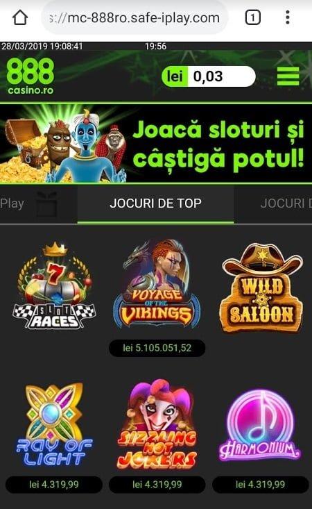 pacanele online de pe mobil la 888 casino