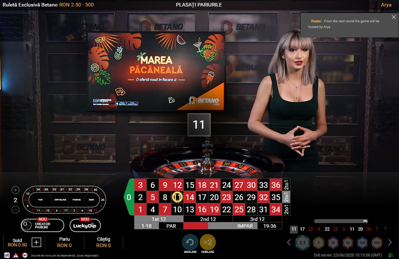 ruleta cu dealeri live betano casino