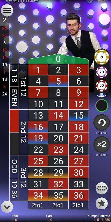 ruleta cu dealeri live la fortuna casino 1