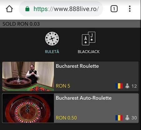 ruleta live de pe mobil 888 casino
