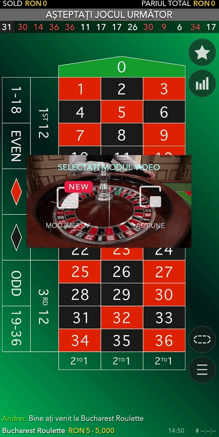 ruleta live de pe mobil