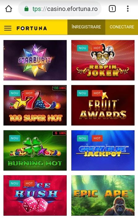 sloturi populare fortuna casino