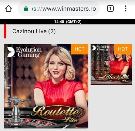 winmasters casino live de pe mobil