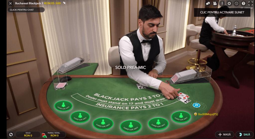blackjack cu dealeri live
