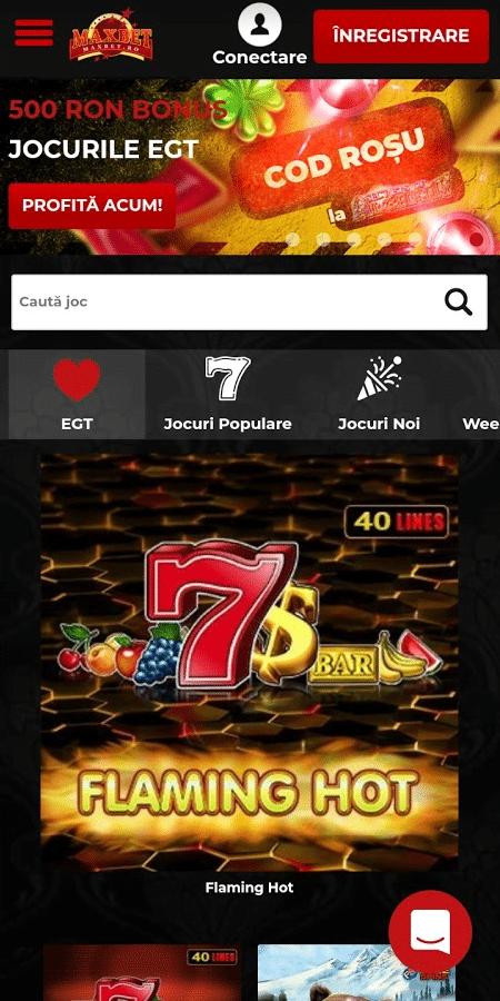 maxbet casino pe mobil