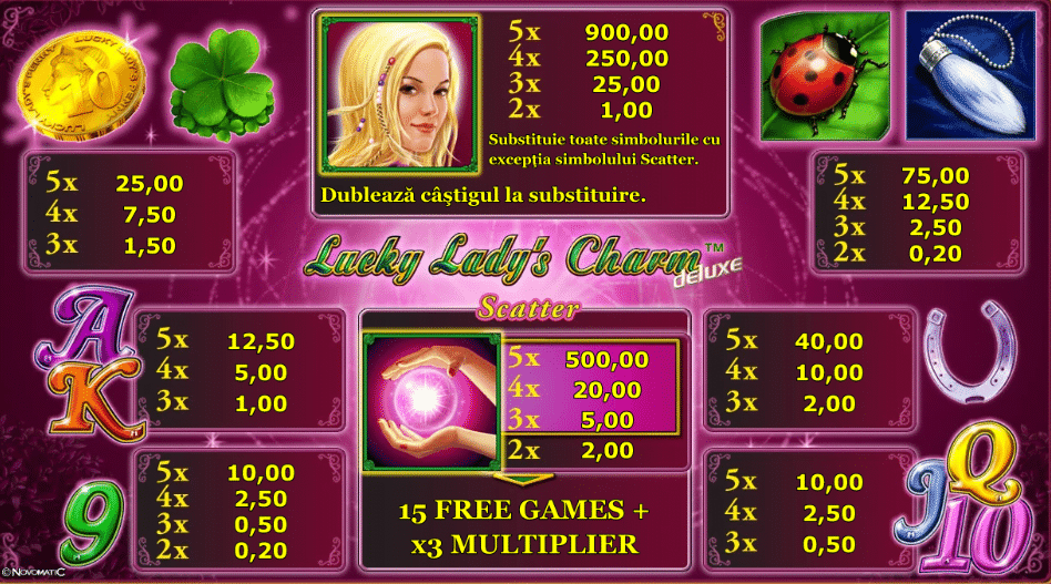 Unde poti juca Lucky Lady's Charm online