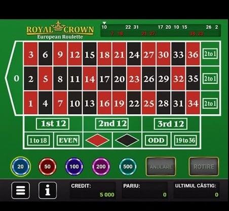 ruleta de pe mobil la admiral casino