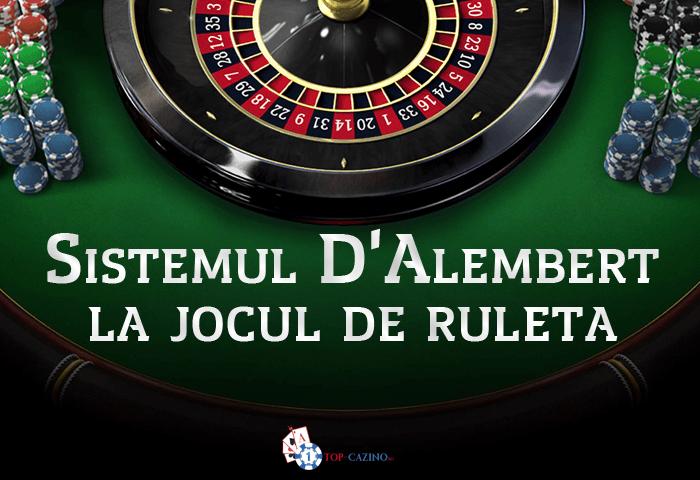 Sistemul D'Alembert la jocul de ruleta