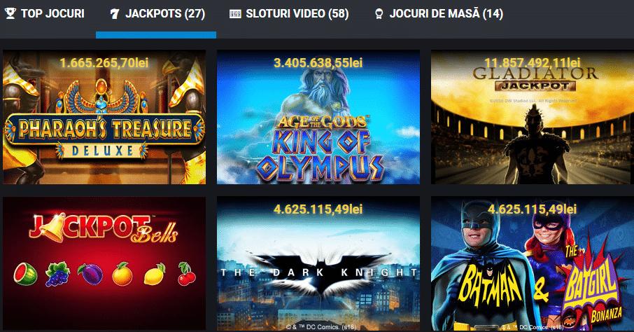 Peste 35 de jocuri slot cu premii jackpot in cazinoul online Betano