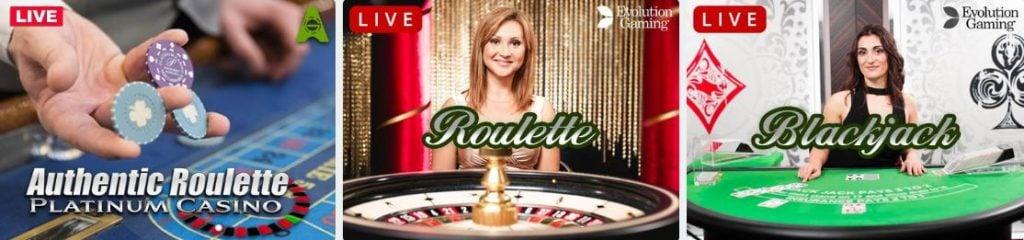 platinum casino live