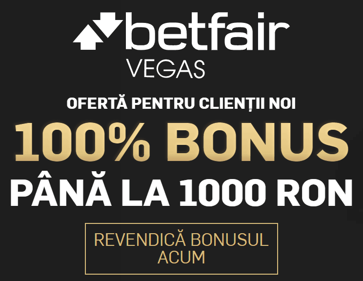 Betfair Casino – bonus 1000 Ron