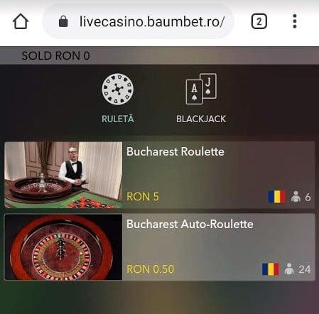 baumbet live casino mobil