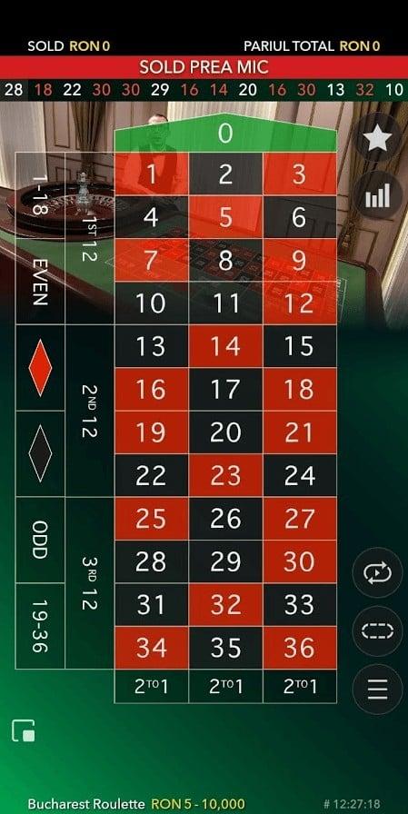 ruleta live baumbet casino de pe mobil