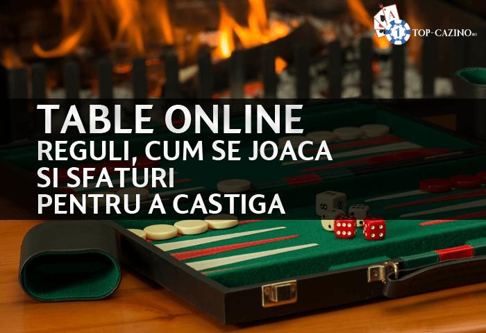 table online reguli cum se joaca si sfaturi pentru a castiga