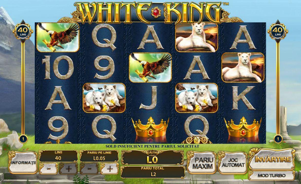 white king video slot playtech