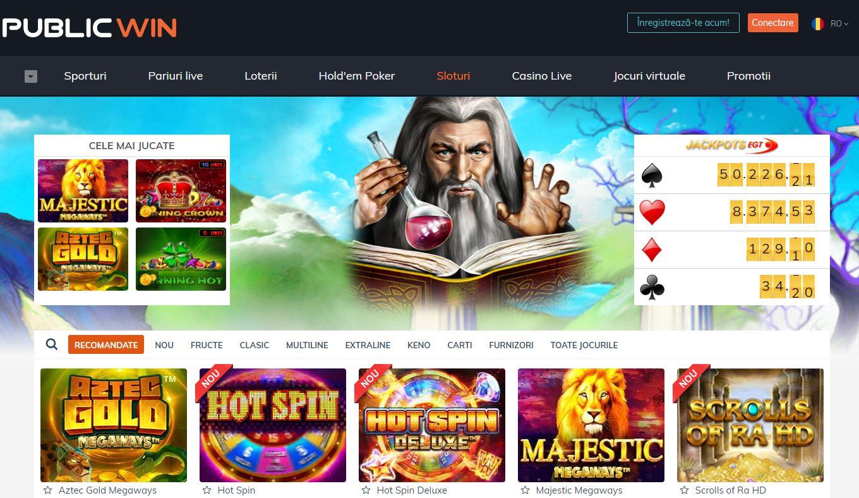 deschidere cont publicwin casino
