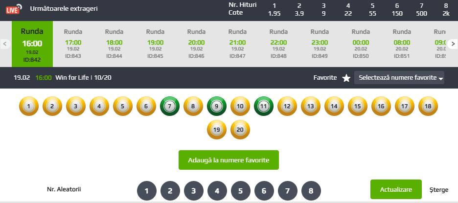 alegere numere loto italia win for life
