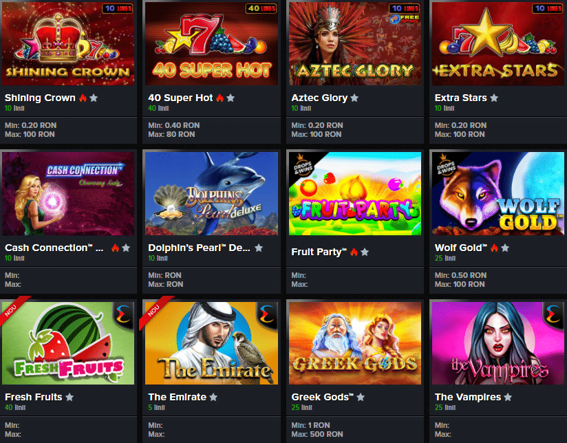 Jocuri Mozzart Casino