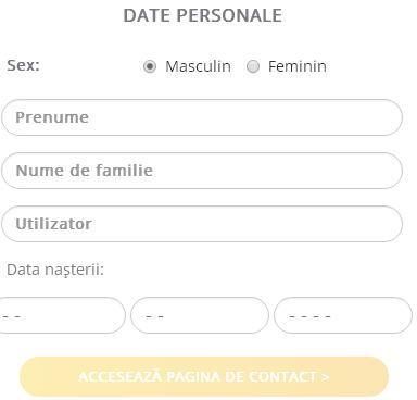 Date personale inregistrare NetBet