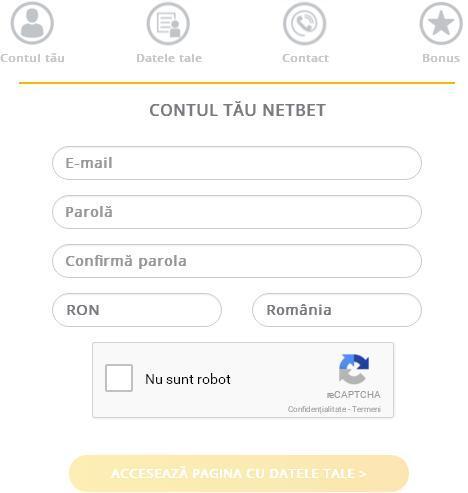 NetBet inregistrare