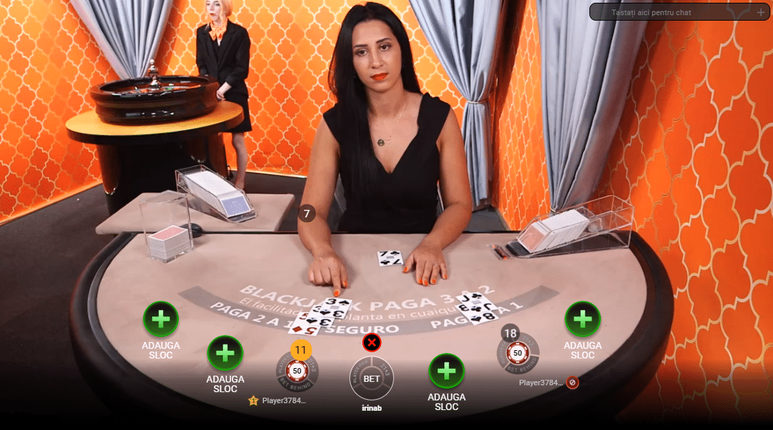 Blackjack la Betano Casino Live