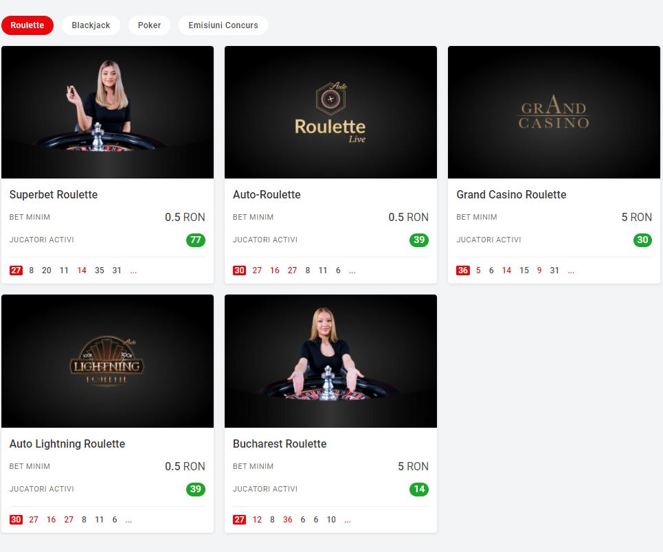 Casino Live Superbet cu dealeri reali