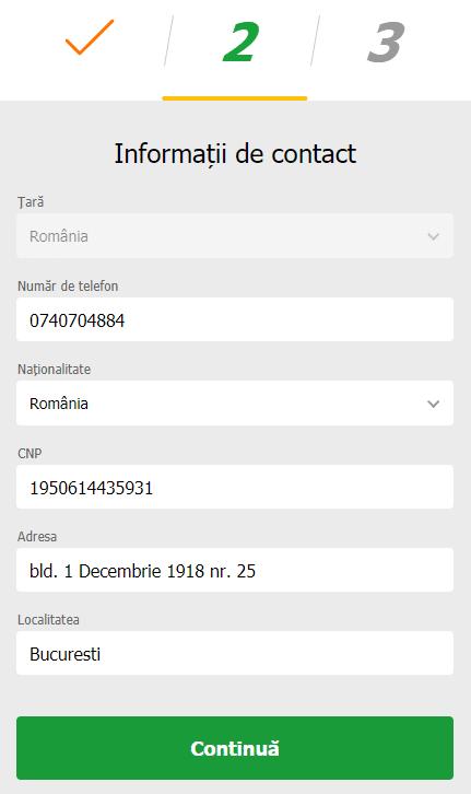 Informatii de contact Gets Bet