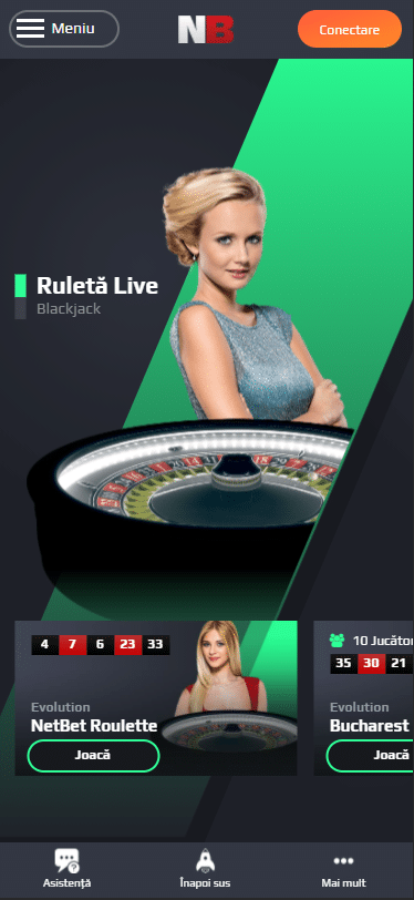 Jocuri cu dealeri live la NetBet mobil