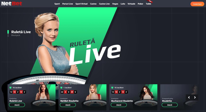 Jocuri la NetBet Casino Live