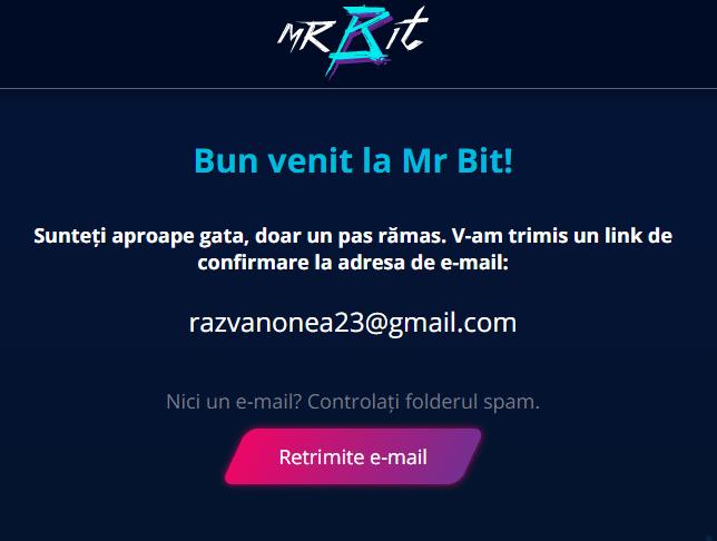 Inregistrare Mr Bit