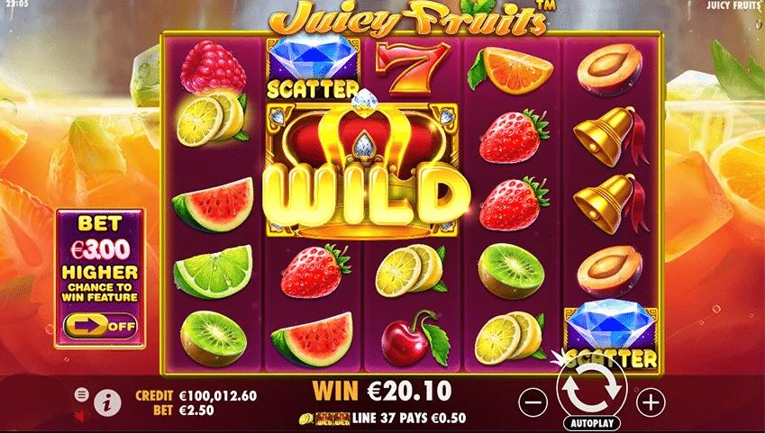 Juicy Fruits - Pacanele online cu capsuni