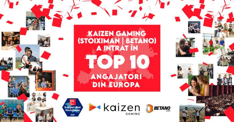 Betano este in top 10 cei mai buni angajatori din Europa